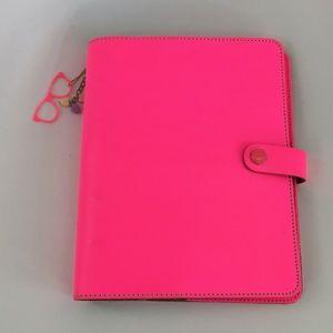 Hot pink Filofax planner
